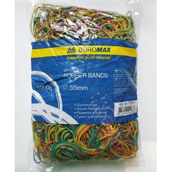 Резинки для денег цветные 500 г. Jobmax 5504