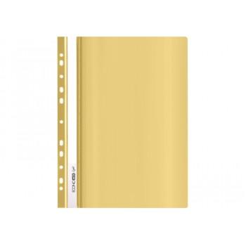 Папка-скоросшиватель Economix Light (Econom) А4, желтая