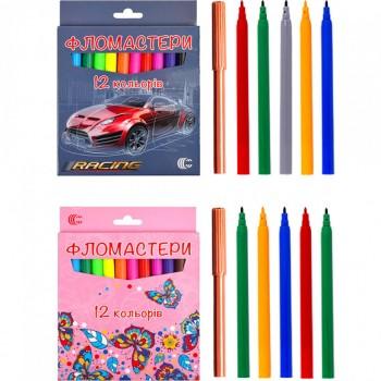 Фломастер 12 цветов картон С950-12