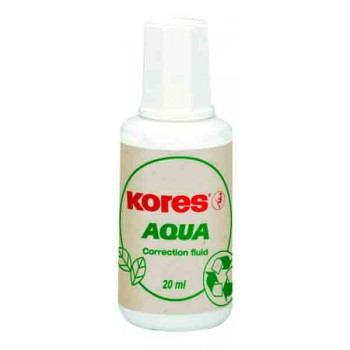 Корректор с кисточкой Kores Aqua, водная основа 20 мл