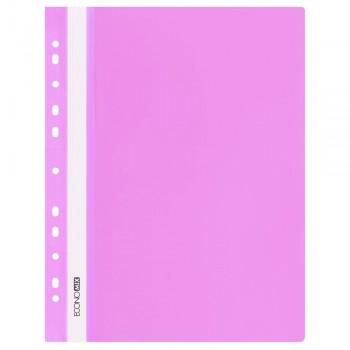Скоросшиватель с перфорацией А4 розовый, глянцевый