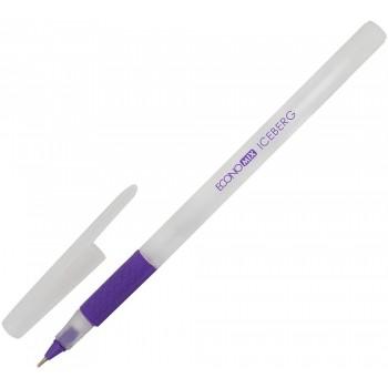 Ручка масляная Economix Iceberg фиолетовая