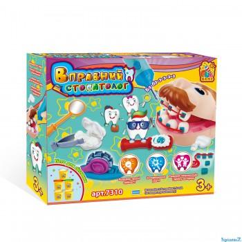"""Набор теста для лепки """"Искусный стоматолог"""" Fun Game 7310"""