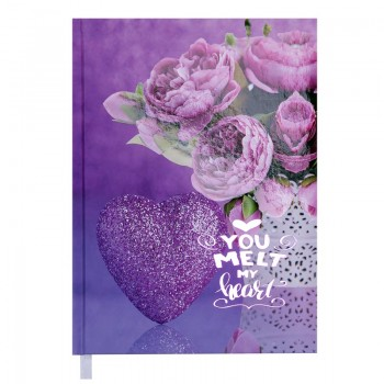 Ежедневник недатир. Buromax Romantic A5, фиолетовый