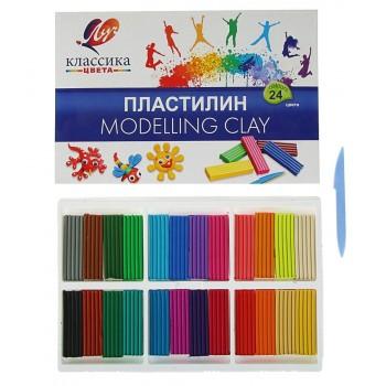 Пластилин Классика, 24 цвета 480 г.
