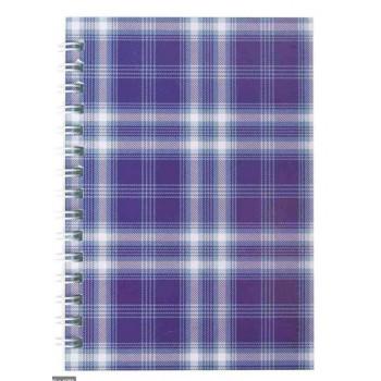 Блокнот Buromax А-6 48 листов Шотландка фиолетовый клетка BM.2592-07