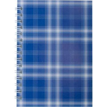 Блокнот Buromax А-6 48 листов Шотландка синий клетка BM.2592-02