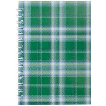 Блокнот Buromax А-6 48 листов Шотландка зеленый клетка BM.2592-04
