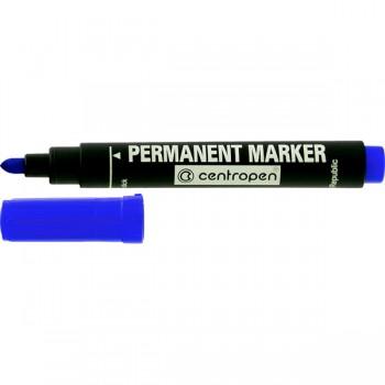 Маркер Centropen перманентный 2,5 мм синий 8566/03