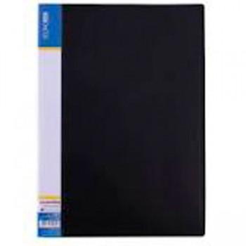 Папка пластиковая с 10 файлами Economix черная