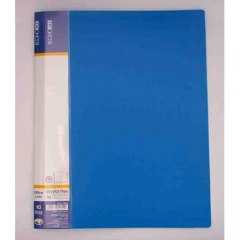 Папка пластиковая с 10 файлами Economix, синяя