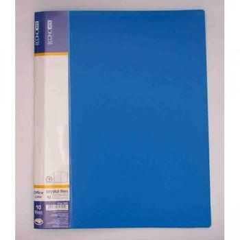 Папка пластикова с 30 файлами Economix, синяя