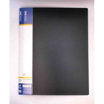 Папка пластикова с 60 файлами Economix, черная