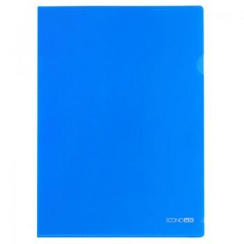 Папка-уголок Economix А4 плотная, синяя E31153-02