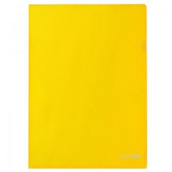 Папка-уголок А4 плотная, желтая