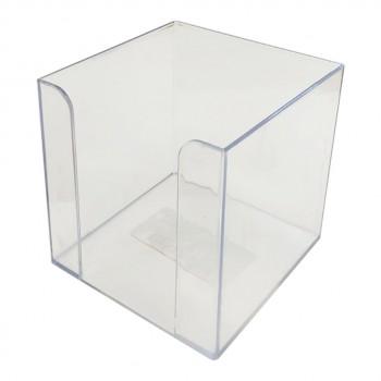 Подставка настольная для бумаги 90*90*90, прозрачная