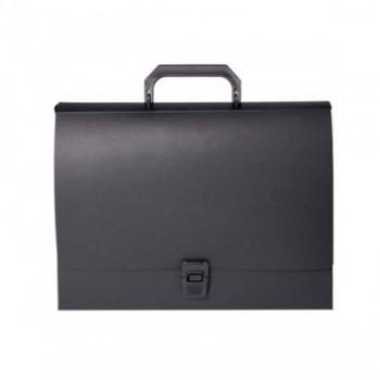 Портфель пластиковый на застежке черный  ECONOMIX