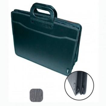 Портфель пластиковый для документов В4 на 3 отделения на молнии
