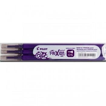 Набор стержней 3 шт для ручки Pilot Frixion 0,5мм, фиолетовые, BLS-FRP5-S3