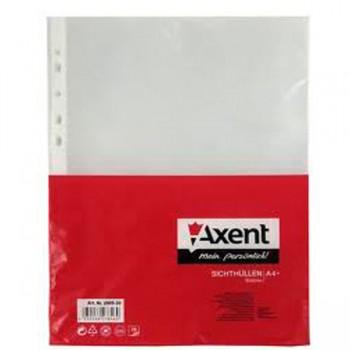 Файлы 90 мкм Axent высокой плотности глянцевые, 20 шт. 2009-20-A