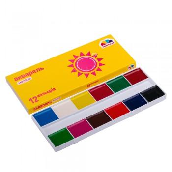 Акварель Гамма Украина Малята 12 цветов картонная упаковка 100102