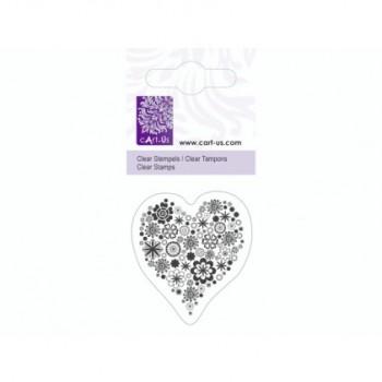 Штамп акриловый 5*6 см Цветочное сердце