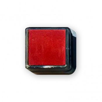 Штемпельная подушка красная 2,5x2,5 см.