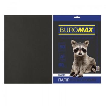 Бумага черная Buromax DARK, 50 л., А4, 80 г/м²