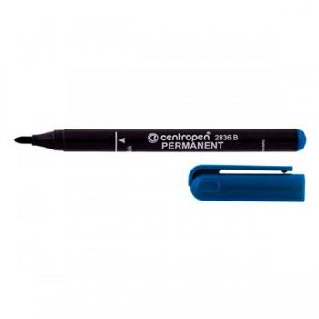 Маркер Centropen Permanent 2мм, синий 2836/03