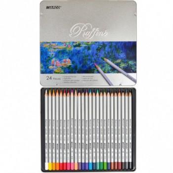 Цветные карандаши Marco Raffine, метал. пенал 24 цвета, 7100-24TN