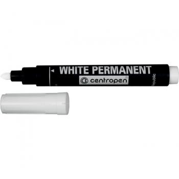 Маркер перманентный белый Centropen White 8586