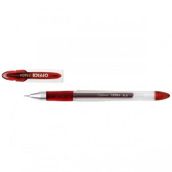 Ручка гелевая Optima Office, красная