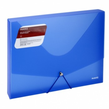 Папка-бокс пластиковая А4 30мм на резинках Axent синяя 1502-22-A