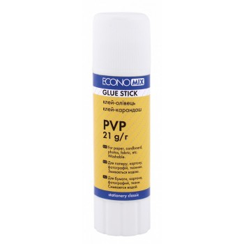 Клей-карандаш Economix PVP, 21г