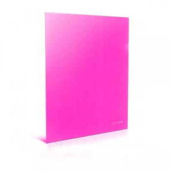 Папка-уголок А4 розовая