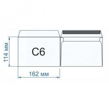 Конверт C6 скл
