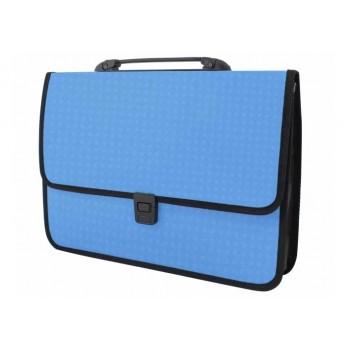 Пластиковый портфель Вышиванка голубой