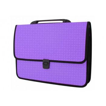 Пластиковый портфель Вышиванка Фиолетовый