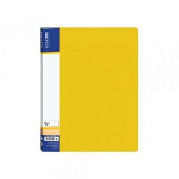 Папка пластиковая с 30 файлами Economix, желтая