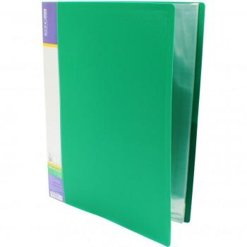 Папка пластиковая с 30 файлами Economix, зеленая