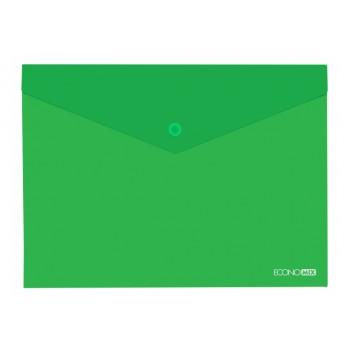 Папка-конверт А4 полупрозрачная зеленая 31301