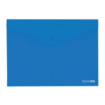 Папка-конверт А4 полупрозрачная синяя