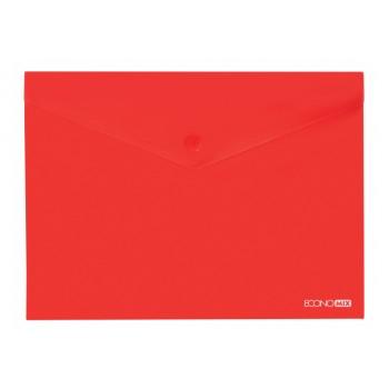 Папка-конверт А4 полупрозрачная красная 31301