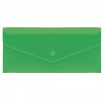 Папка-конверт на кнопке Евроконверт (формат)DL зеленая