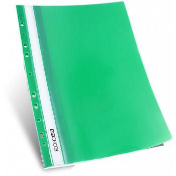 Скоросшиватель с перфорацией А4 зеленый, глянцевый
