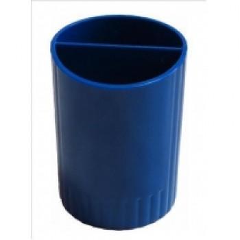 Стакан для ручек на 2 отделения E81982, синий