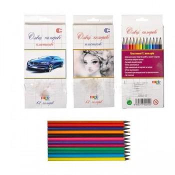 Карандаши цветные 12 цветов CR 555-12
