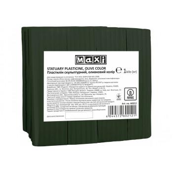 Пластилин скульптурный Maxi 1 кг, оливковый MX60212