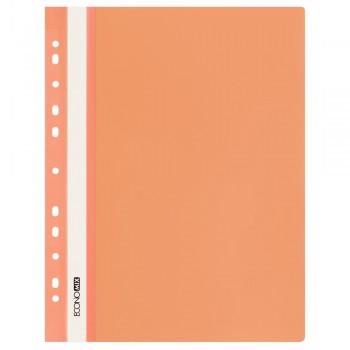 Скоросшиватель с перфорацией А4 оранжевый, глянцевый
