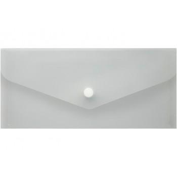 Папка-конверт на кнопке Евроконверт (формат)DL прозрачная